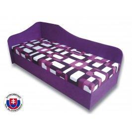 Jednolůžková postel (válenda) 80 cm - Važo - Lux 87 (Fialová 49 + Gusto 10) (L)
