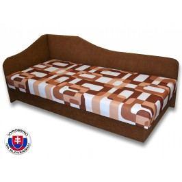 Jednolůžková postel (válenda) 80 cm - Važo - Lux 87 (Hnědá 13 + Gusto 11) (L)