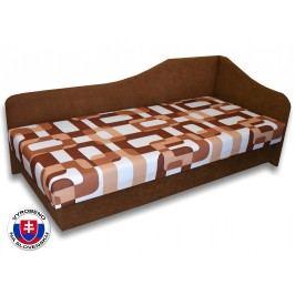 Jednolůžková postel (válenda) 80 cm - Važo - Lux 87 (Hnědá 13 + Gusto 11) (P)