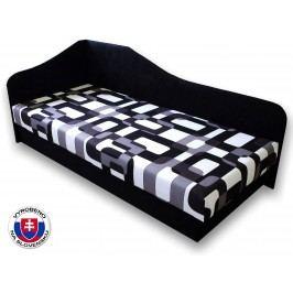 Jednolůžková postel (válenda) 80 cm - Važo - Lux 87 (Černá 39 + Gusto 12) (L)