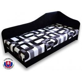 Jednolůžková postel (válenda) 80 cm - Važo - Lux 87 (Černá 39 + Gusto 12) (P)