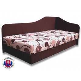 Jednolůžková postel (válenda) 80 cm - Važo - Lux 87 (Tmavohnědá 40 + Ikarus 20) (P)