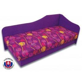 Jednolůžková postel (válenda) 80 cm - Važo - Lux 87 (Fialová 49 + Ikarus 43) (P)
