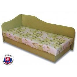 Jednolůžková postel (válenda) 80 cm - Važo - Lux 87 (Světle zelená 72 + Muro 30) (L)