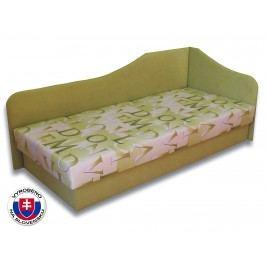 Jednolůžková postel (válenda) 80 cm - Važo - Lux 87 (Světle zelená 72 + Muro 30) (P)