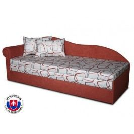 Jednolůžková postel (válenda) 70 cm - Važo - Luxus II (Cihlová 41 + Dodo 1008) (L)