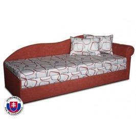 Jednolůžková postel (válenda) 70 cm - Važo - Luxus II (Cihlová 41 + Dodo 1008) (P)