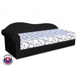 Jednolůžková postel (válenda) 70 cm - Važo - Luxus II (Černá 39 + Dodo 1026) (L)