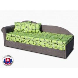 Jednolůžková postel (válenda) 70 cm - Važo - Luxus II (Šedá 81 + Dodo 1027) (L)