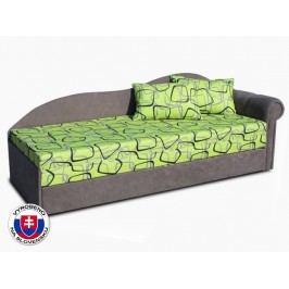 Jednolůžková postel (válenda) 70 cm - Važo - Luxus II (Šedá 81 + Dodo 1027) (P)