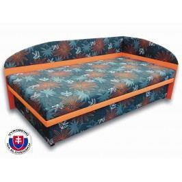 Jednolůžková postel (válenda) 100 cm - Važo - Sofia (Oranžová X104 + Valeriana vol 830) (P)
