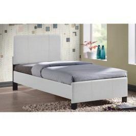 Jednolůžková postel 90 cm - Arkona (bílá) (s roštem)