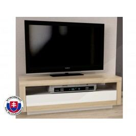 TV stolek skříňka - Agnes (dub sonoma + bílá)