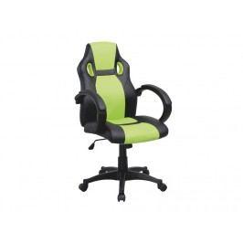 Kancelářské křeslo - Lester (černá + zelená)