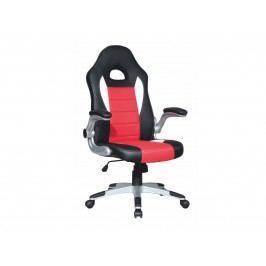 Kancelářské křeslo - Marvin (černá + červená + bílá)