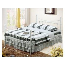 Jednolůžková postel 90 cm - Nieves (s roštem) (bílá)