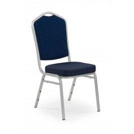 Jídelní židle - - K66S (stříbrná + modrá)