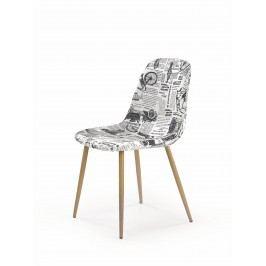 Jídelní židle - - K220 (vícebarevné + dub medový)