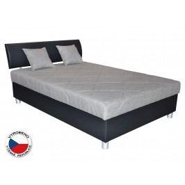 Manželská postel 120 cm - Blanář - Skate (šedá + černá) (s roštem a matrací)