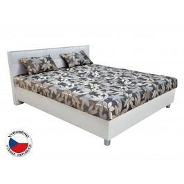 Manželská postel 180 cm - Blanář - Belfast (šedá + bílá) (s rošty a matracemi)