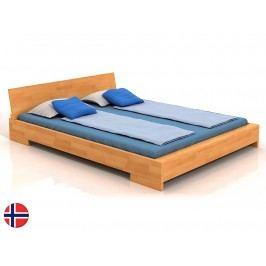 Manželská postel 160 cm - Naturlig - Lekanger (buk) (s roštem)