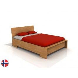 Manželská postel 160 cm - Naturlig - Lekanger High (buk) (s roštem)