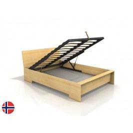 Manželská postel 180 cm - Naturlig - Lekanger High BC (borovice) (s roštem)