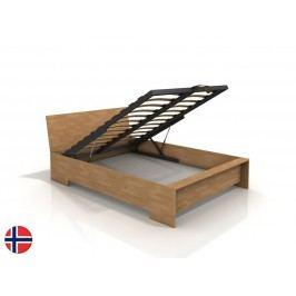 Manželská postel 160 cm - Naturlig - Lekanger High BC (buk) (s roštem)