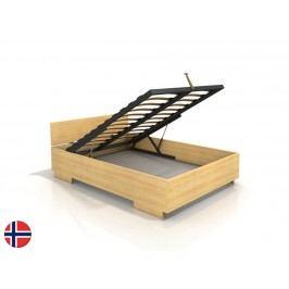 Manželská postel 160 cm - Naturlig - Larsos High BC (borovice) (s roštem)
