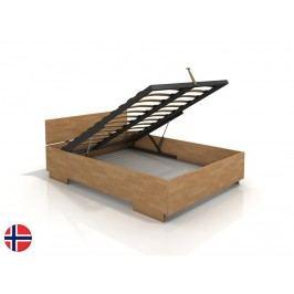 Manželská postel 160 cm - Naturlig - Larsos High BC (buk) (s roštem)