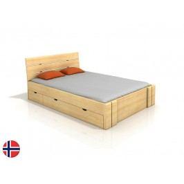 Manželská postel 160 cm - Naturlig - Tosen High Drawers (borovice) (s roštem)