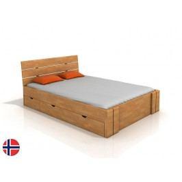 Manželská postel 180 cm - Naturlig - Tosen High Drawers (buk) (s roštem)