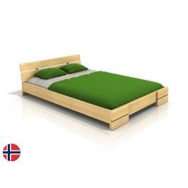 Manželská postel 160 cm - Naturlig - Lorenskog (borovice) (s roštem)