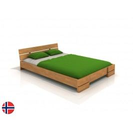 Manželská postel 160 cm - Naturlig - Lorenskog (buk) (s roštem)