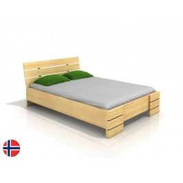 Manželská postel 160 cm - Naturlig - Lorenskog High (borovice) (s roštem)
