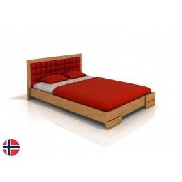 Manželská postel 160 cm - Naturlig - Storhamar (buk) (s roštem)