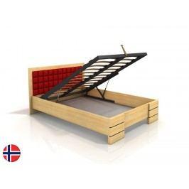 Manželská postel 200 cm - Naturlig - Storhamar High BC (borovice) (s roštem)