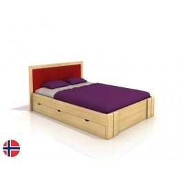 Manželská postel 160 cm - Naturlig - Manglerud High Drawers (borovice) (s roštem)