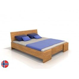 Manželská postel 160 cm - Naturlig - Blomst High (buk) (s roštem)