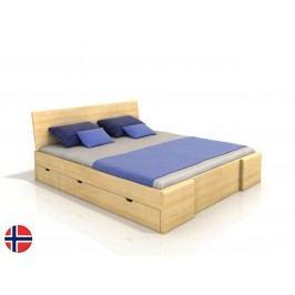 Manželská postel 180 cm - Naturlig - Blomst High Drawers (borovice) (s roštem)