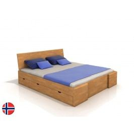 Manželská postel 200 cm - Naturlig - Blomst High Drawers (buk) (s roštem)