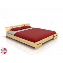 Manželská postel 200 cm - Naturlig - Bokeskogen (borovice) (s roštem)