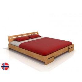 Manželská postel 180 cm - Naturlig - Bokeskogen (buk) (s roštem)