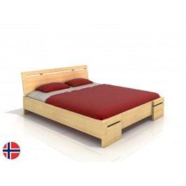 Manželská postel 160 cm - Naturlig - Bokeskogen High (borovice) (s roštem)