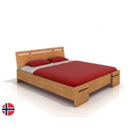 Manželská postel 160 cm - Naturlig - Bokeskogen High (buk) (s roštem)