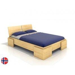 Manželská postel 200 cm - Naturlig - Jordbaer High (borovice) (s roštem)