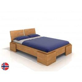 Manželská postel 160 cm - Naturlig - Jordbaer High (buk) (s roštem)