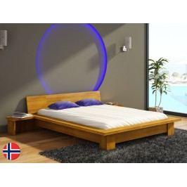 Manželská postel 160 cm - Naturlig - Boergund (buk) (s roštem)