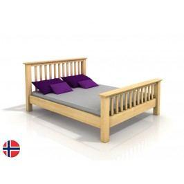 Manželská postel 200 cm - Naturlig - Leikanger (borovice) (s roštem)