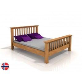 Manželská postel 200 cm - Naturlig - Leikanger (buk) (s roštem)